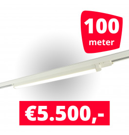 50x LED Railverlichting TL Linear White spots + 100M rails