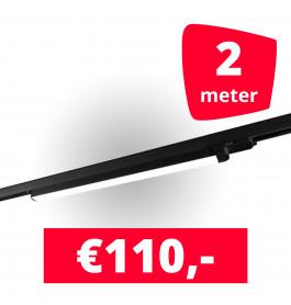 1x LED Railverlichting TL Linear Black spot + 2M rails