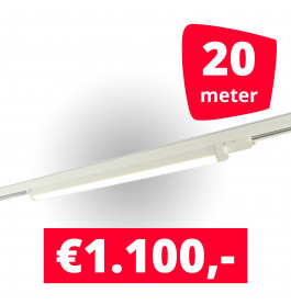 10x LED Railverlichting TL Linear White spots + 20M rails
