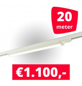 10x LED Railverlichting TL Linear White spots + 20M rails
