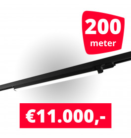 100x LED Railverlichting TL Linear Black spots + 200M rails