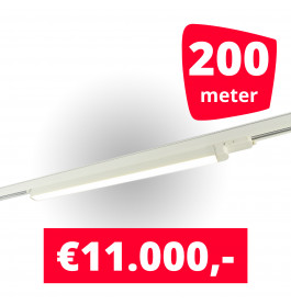 100x LED Railverlichting TL Linear White spots + 200M rails