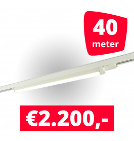 20x LED Railverlichting TL Linear White spots + 40M rails
