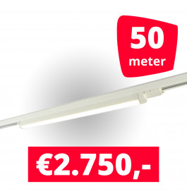 25x LED Railverlichting TL Linear White spots + 50M rails