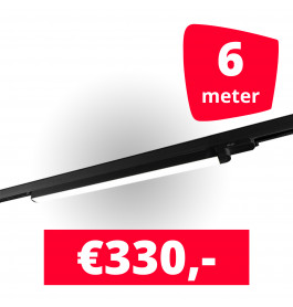 3x LED Railverlichting TL Linear Black spots + 6M rails