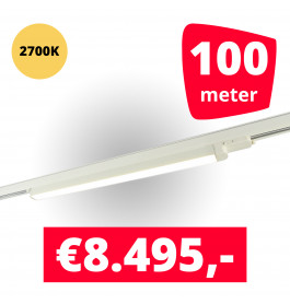 LED Railverlichting TL Linear Wit 2700K 100 spots + 100M rails