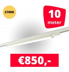 LED Railverlichting TL Linear Wit 2700K 10 spots + 10M rails