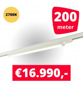 LED Railverlichting TL Linear Wit 2700K 200 spots + 200M rails
