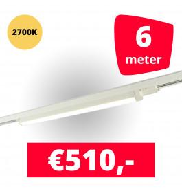 LED Railverlichting TL Linear Wit 2700K 6 spots + 6M rails