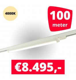 LED Railverlichting TL Linear Wit 4000K 100 spots + 100M rails