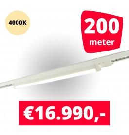 LED Railverlichting TL Linear Wit 4000K 200 spots + 200M rails