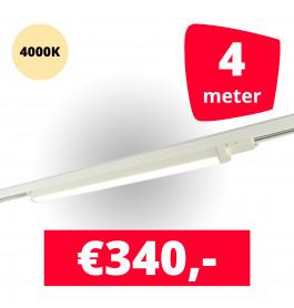 LED Railverlichting TL Linear Wit 4000K 4 spots + 4M rails