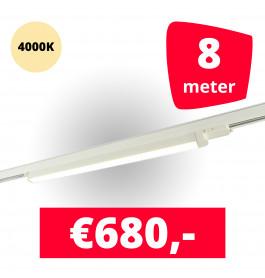 LED Railverlichting TL Linear Wit 4000K 8 spots + 8M rails