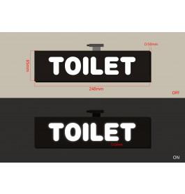 "LED-Sign ""TOILET"""