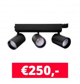 LED Railverlichting Tripolore Zwart
