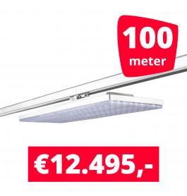 LED Railverlichting Track Line Turbo Plate  4000K Wit 100 lampen + 100M rails