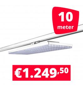LED Railverlichting Track Line Turbo Plate  4000K Wit 10 lampen + 10M rails