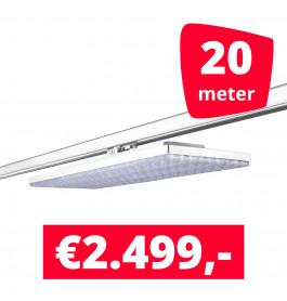 LED Railverlichting Track Line Turbo Plate  4000K Wit 20 lampen + 20M rails