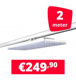 LED Railverlichting Track Line Turbo Plate  4000K Wit 2 lampen + 2M rails