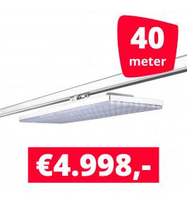 LED Railverlichting Track Line Turbo Plate  4000K Wit 40 lampen + 40M rails