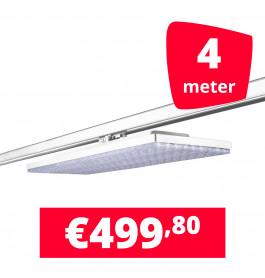 LED Railverlichting Track Line Turbo Plate  4000K Wit 4 lampen + 4M rails