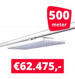 LED Railverlichting Track Line Turbo Plate  4000K Wit 500 lampen + 500M rails