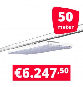 LED Railverlichting Track Line Turbo Plate  4000K Wit 50 lampen + 50M rails