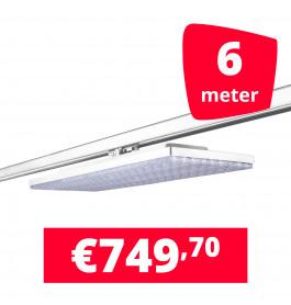 LED Railverlichting Track Line Turbo Plate  4000K Wit 6 lampen + 6M rails