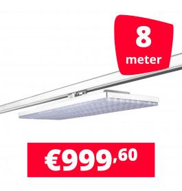 LED Railverlichting Track Line Turbo Plate  4000K Wit 8 lampen + 8M rails