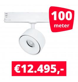 LED Railverlichting Ultimo Wit 100 spots + 100M rails