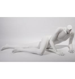Liggende mannelijke etalagepop zonder hoofd