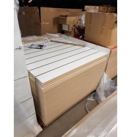 25 x slatwall plaat wit 120 x 120 cm incl inserts extra sterk
