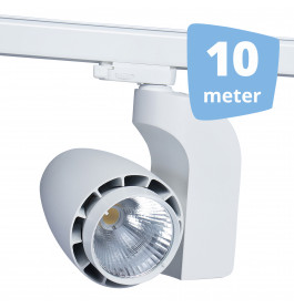LED railverlichting vento wit 10 spots + 10m rails
