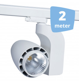 LED railverlichting vento wit 2 spots + 2m rails