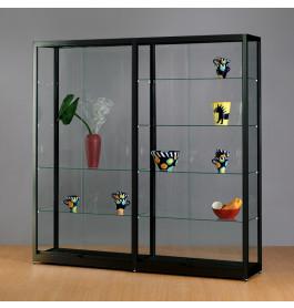 Luxe vitrinekast zwart 200 cm breed