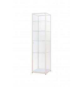 Witte Vitrinekast 50 x 200 x 50 cm