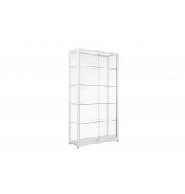 Witte Vitrinekast 100 x 200 x 40 cm