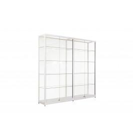 Witte Vitrinekast 200 x 200 x 40 cm
