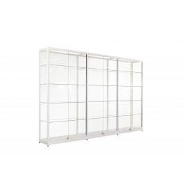 Witte Vitrinekast 300 x 200 x 40 cm