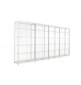 Witte Vitrinekast 400 x 200 x 40 cm