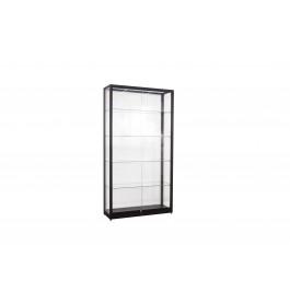 Zwarte Vitrinekast 100 x 200 x 40 cm