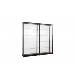 Zwarte Vitrinekast 200 x 200 x 40 cm