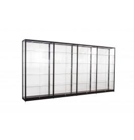 Zwarte Vitrinekast 400 x 200 x 40 cm
