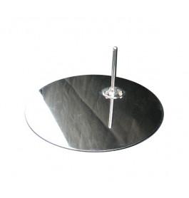 NIEUWE  metalen voetplaat incl voetpin