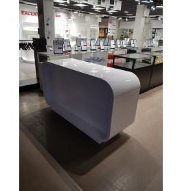 Super high glossy toonbank wit 175 x 100 x 60 cm - nummer 52