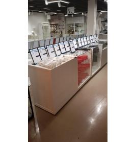 Toonbank wit met glas 400 x 100 x 60 cm - nummer 54