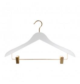 Hanger white Helena 44 cm Gold hook/clips