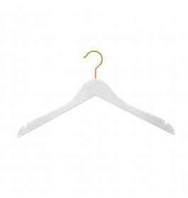 Hanger white Helena 44 cm gold hook