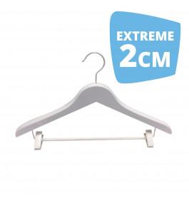Hanger white Helena 44 cm clips Extreme 2cm Dik