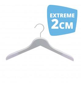 Hanger white Helena 44 cm Flock Extreme 2cm Dik